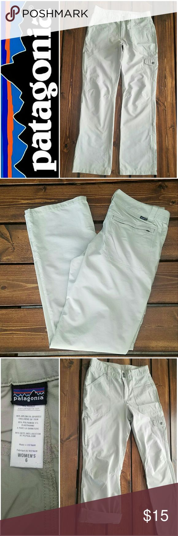 """Patagonia Women's Hiking Pants - 6 Lightweight with pockets. Can be rolled into capris. 31"""" inseam. Patagonia Pants"""