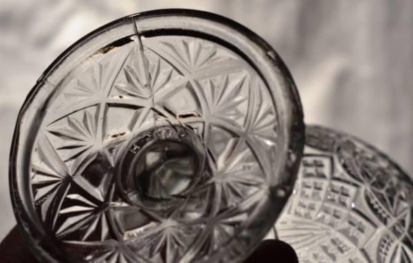 Pressglass sukkerskål Brand fra Høvik, Stemplet - Selges av reliving fra…