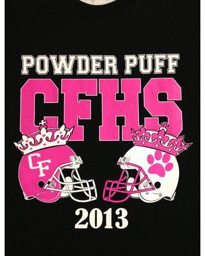 powder puff football shirts helmet say seniors other juniors - Cheer Shirt Design Ideas