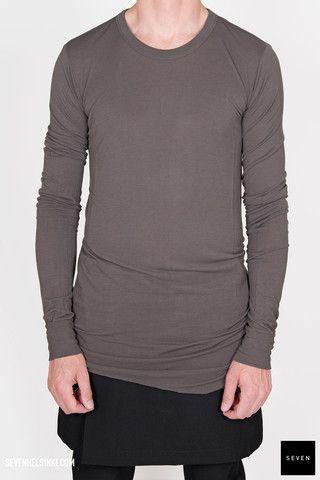 Rick Owens BASIC LONG SLEEVES T - darkdust 187 € | Seven Shop