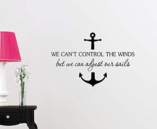 Wall Vinyl Decal We can't control the winds but we can adjust our sails Anchor ocean beach starfish love cute inspirational family love vinyl quote saying wall art lettering sign room decor Simple http://www.amazon.com/dp/B013HFCACA/ref=cm_sw_r_pi_dp_9..8wb0HRPHRF