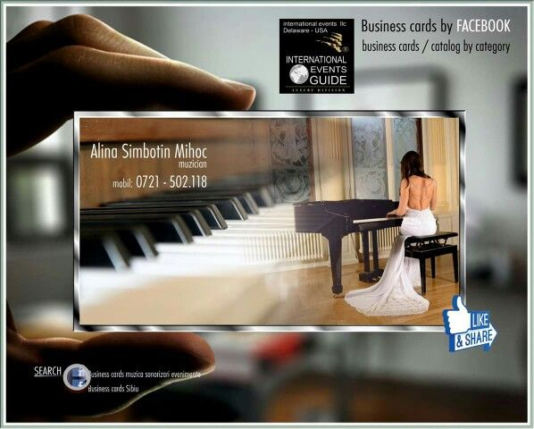 Business cards muzica sonorizari evenimente