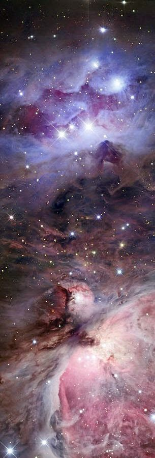 The Sword Of Orion - The Orion constellation is noticeable for three medium-bright stars in a short, straight row. These stars represent Orion's Belt.