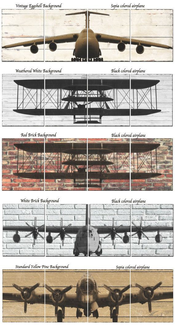 12 x 12 B17 Printed Canvas Airplane Panels by South5thStreetDesign, $110.00