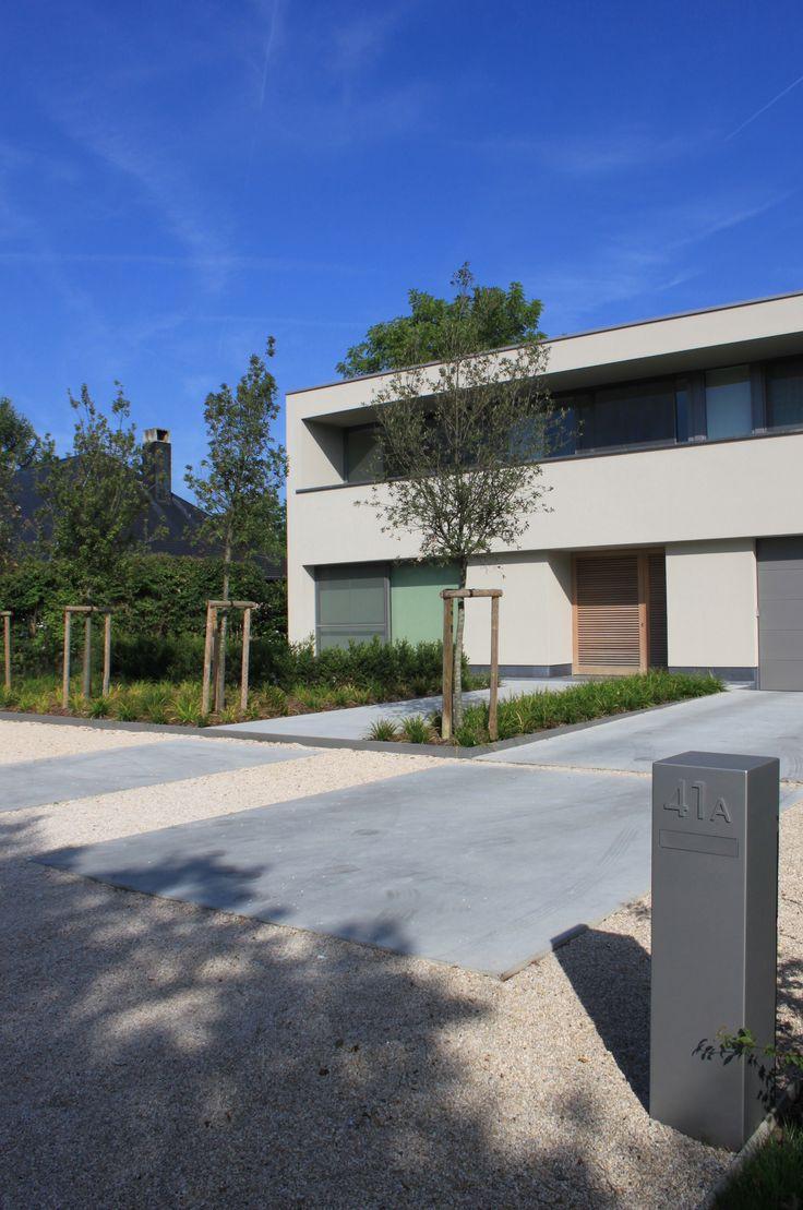 studio k - tuin wolvertem 2011 (garden, tuin, voortuin, concrete, gepolierde…