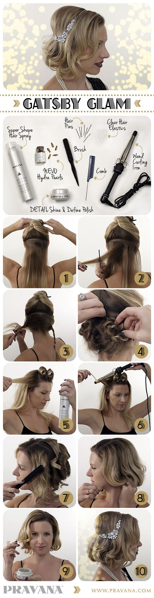 Gatsby Glam! Hair ideas for Mixology Night on December 6 with Templeton