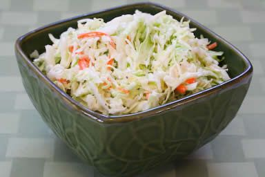 Recipe Update:  Sugar-Free Coleslaw with Agave Nectar from Kalyn's Kitchen