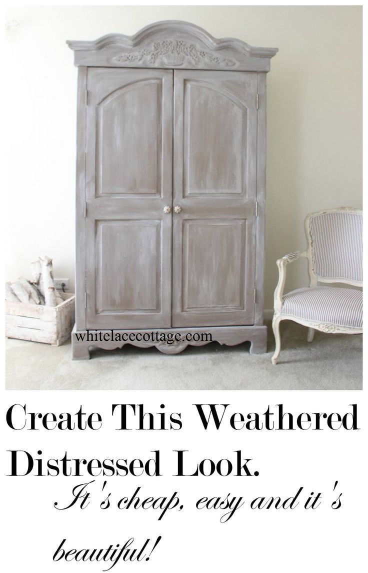 Faux painting furniture ideas - Weathered And Distressed Technique Super Easy And Cheap Faux Paintingpainting Tipsfurniture