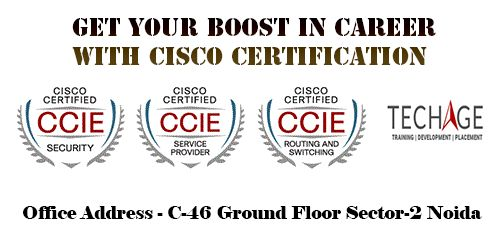 Get Your Boost In Career With CISCO Certification at TechAge Labs Academy In Noida,Best Networking Training (CCNA,CCNP,CCIE)call Now for More Details : +91-9212043532, +91-9212063532   Contact Details:- TechAge Labs Academy C-46 Ground Floor, Sector-2, Noida-201301. Phone no.: 0120-4540894,0120-6495333 Email    : info@techagelabs.com          : hr@techagelabs.com Website  : http://www.techageacademy.com/