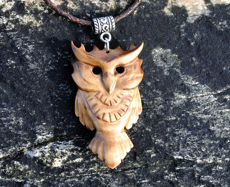Wooden owl pendant (Updated version) by JOVictory