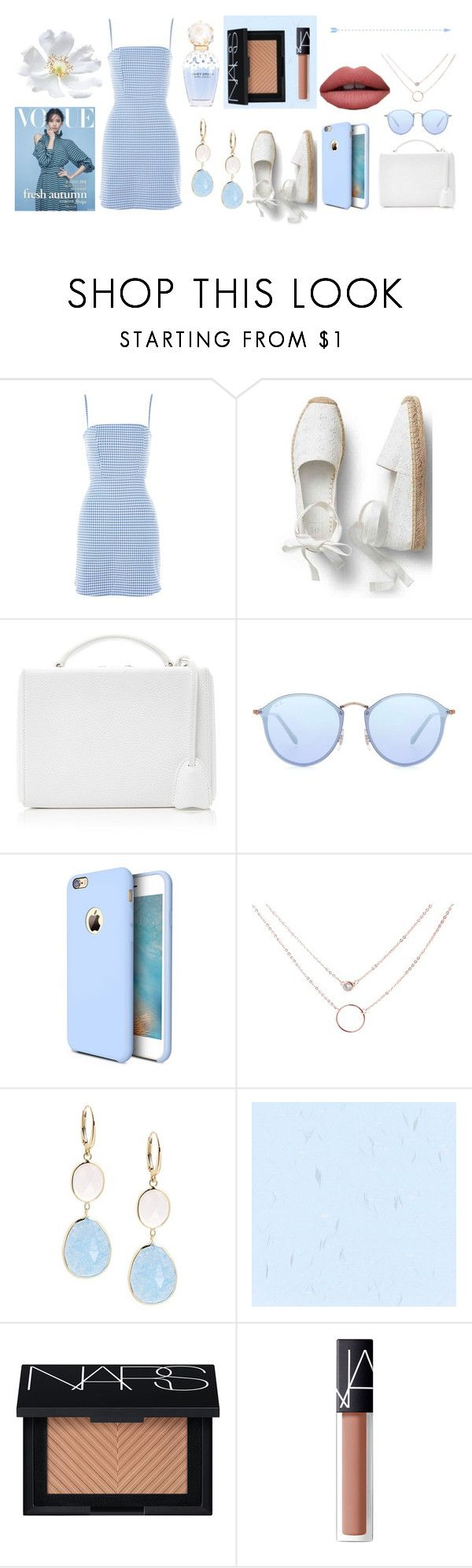 """""""to say goodbye to summer"""" by cristinamonteiro77 on Polyvore featuring Nobody's Child, Mark Cross, Ray-Ban, Torras, Saks Fifth Avenue, Marc Jacobs and NARS Cosmetics"""