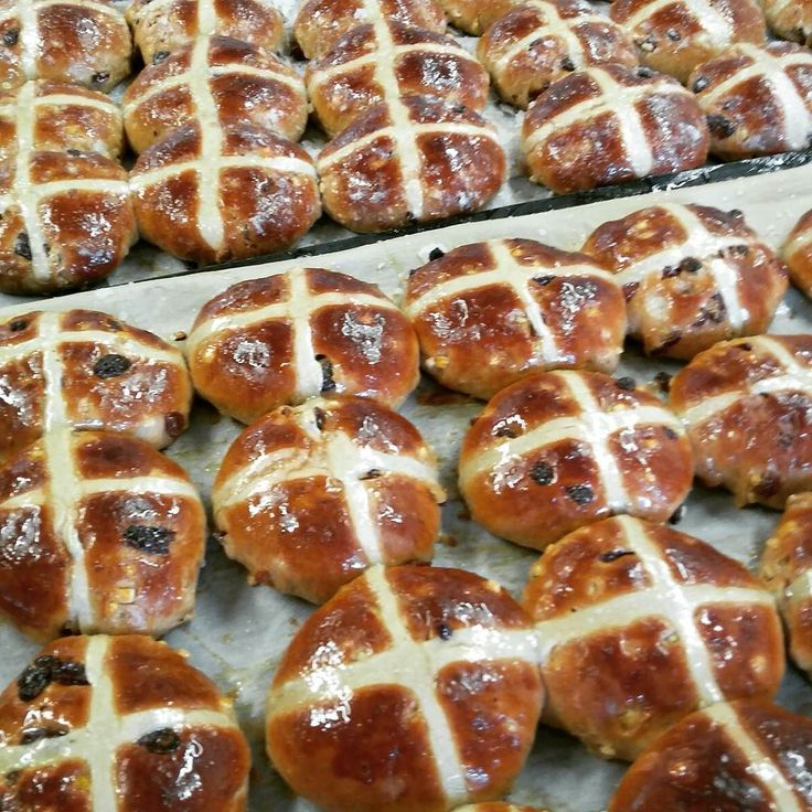 First #hotcrossbuns of the season. Seek out the #realbread to take the difference. #merlinsbakerycafe #realfood #foodandfarming #slowfood #burscough #ormskirk #artisanbreads