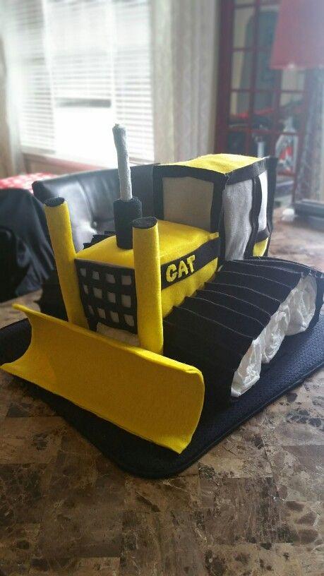 buldozer diaper cake