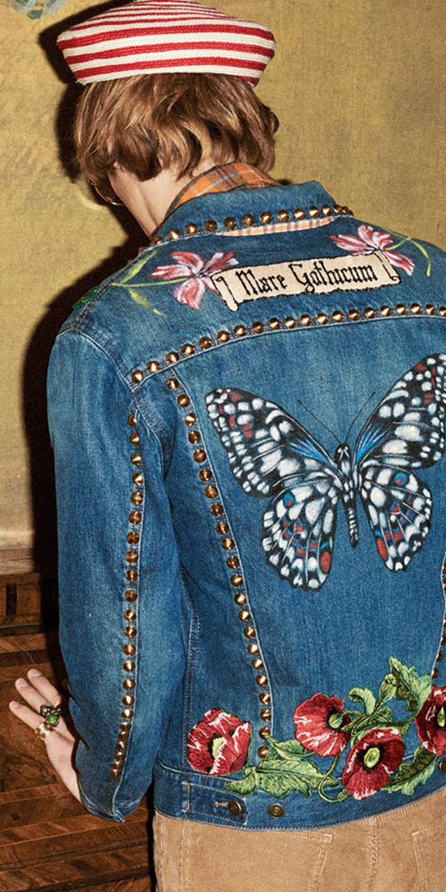 Gucci Embroidered Denim Pre-Fall 2016. | Shop Gucci.com