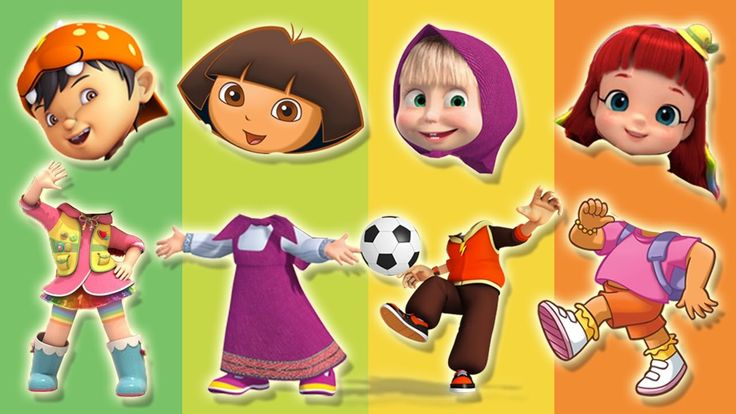 Wrong Heads Rainbow Ruby Masha And The Bear Dora The Explorer BoBoiBoy G...