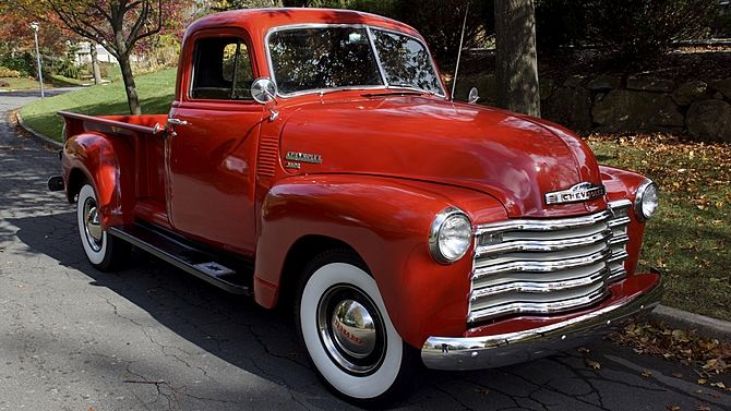 1951 Chevrolet 3600 Pickup 235 CI, 4-Speed presented as lot T180 at Harrisburg, PA 2015 - image1