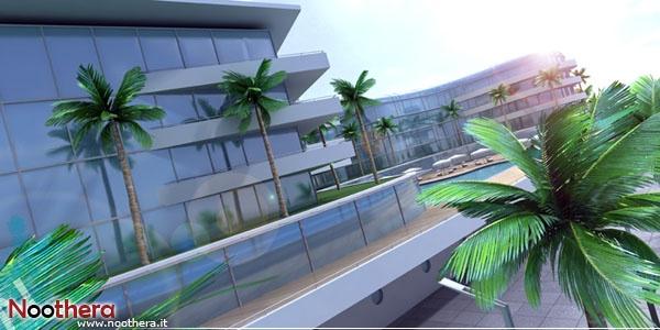 Hotel resort in Abu Dhabi (3D, render, architecture)    Noothera Portfolio