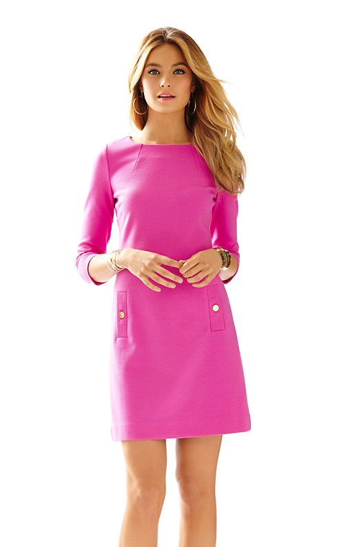 Pink dresses with sleeves...what could be better? We love the Charlene for its fit and ease of wear. Add in our favorite color and we're sold.