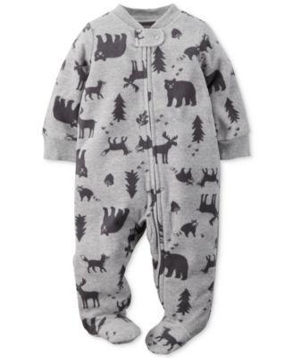Carter's Baby Boys' Wildlife Footed Pajamas | macys.com ...