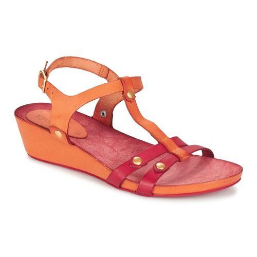 Kickers TAKIT Arancio / Rosso - Consegna gratuita con Spartoo.it ! - Scarpe Sandali Donna 79,00 €