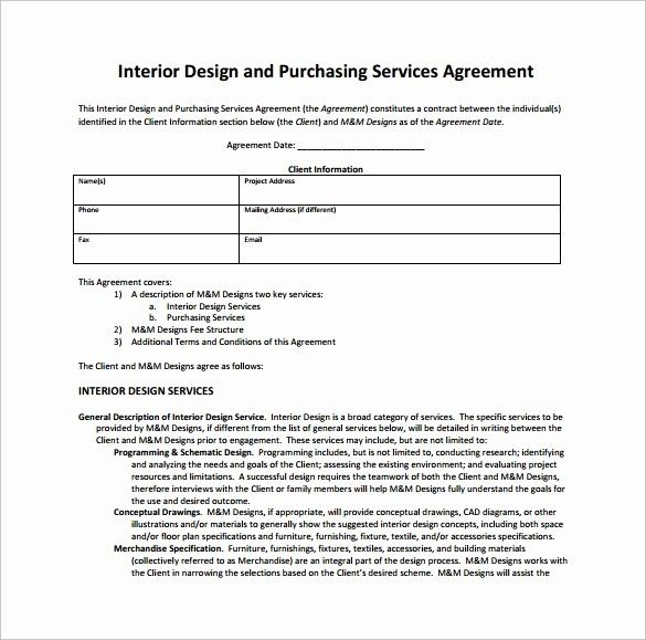 47 Interior Design Contract Templates In 2020 Contract Template