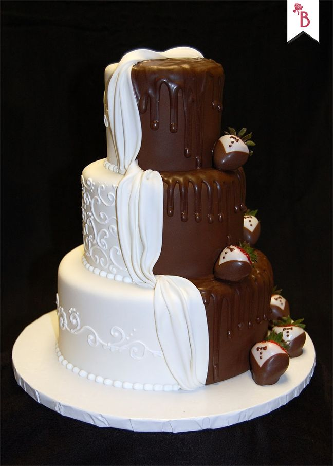 Wedding Cake With Corset Shaped Tier