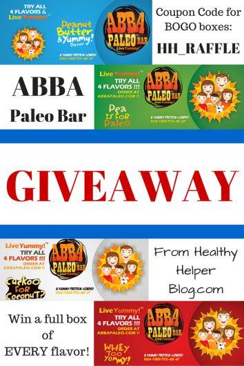 ABBA Paleo Bar Giveaway from @Healthy_Helper http://healthyhelperblog.com?utm_source=utm_source%3DPinterest&utm_medium=utm_medium%3Dsocialmedia&utm_campaign=utm_campaign%3Dblogpost