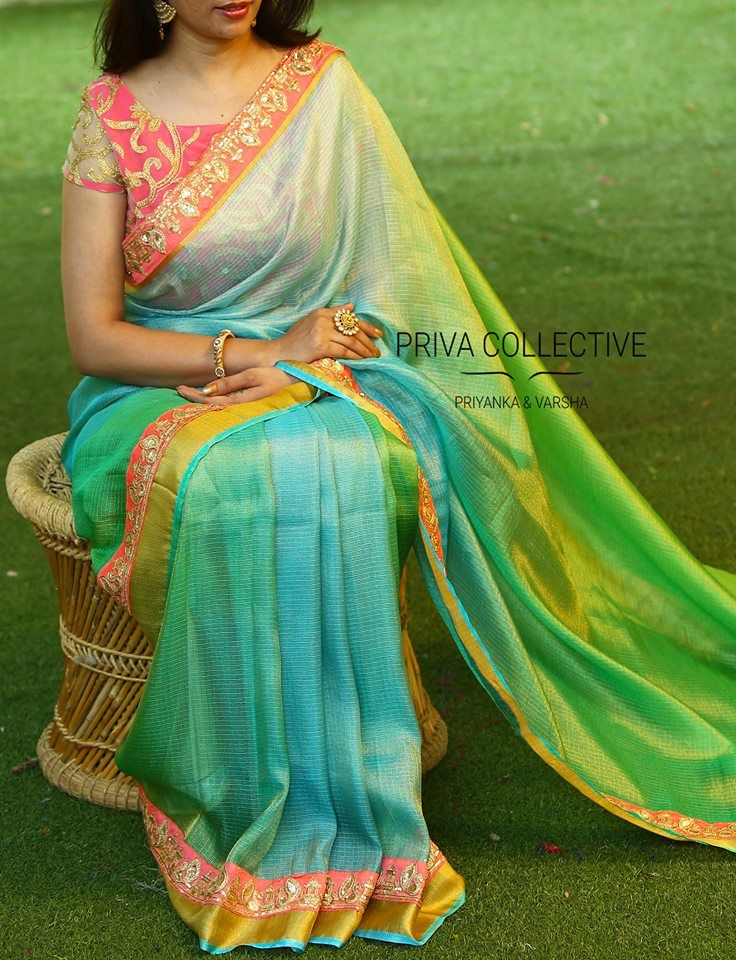 dad6a7b5180f3a 30+ Beautiful Saree Blouse Sleeve Designs to Try This Year
