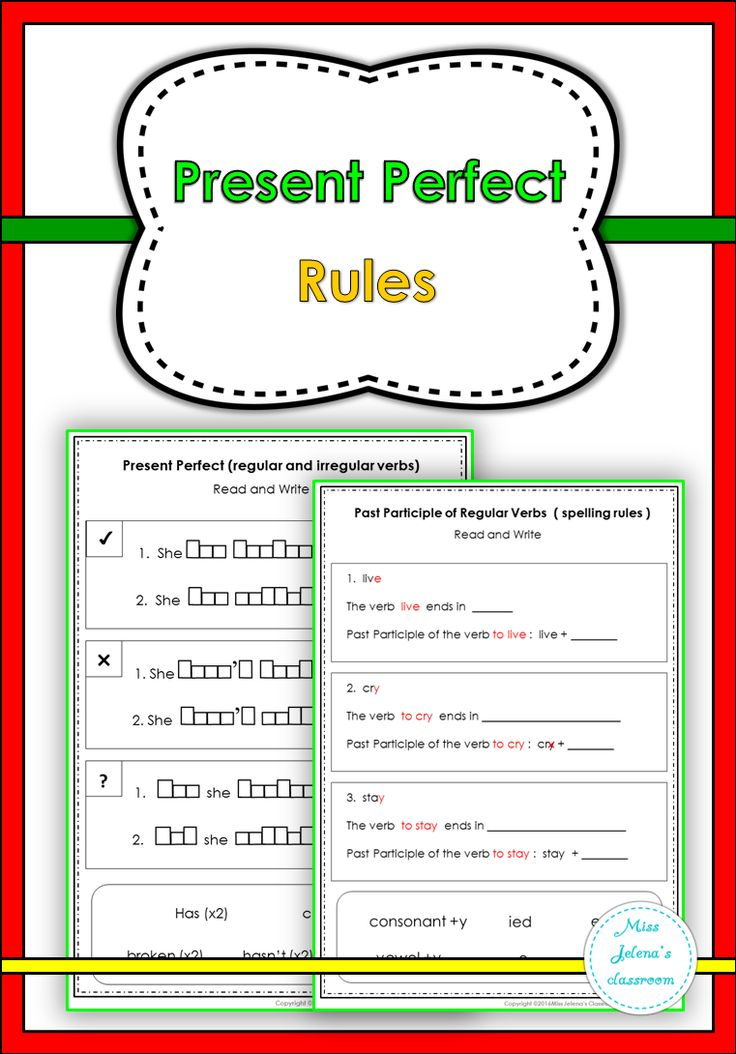 rules of present perfect tense pdf
