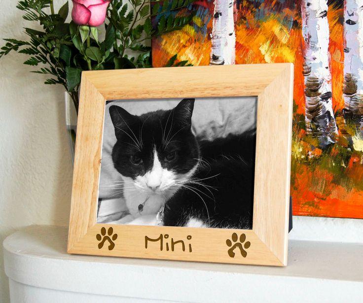 Personalized engraved frame, Custom photo frame, custom pets frame, engraved frames for cats, cat's lovers frame by JMlabonneimpression on Etsy