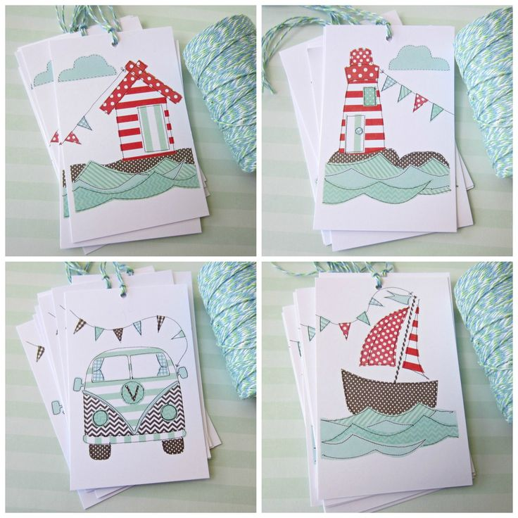 8 pack Gift tags Seaside Collection (www.notinshops.com.au) $16.00