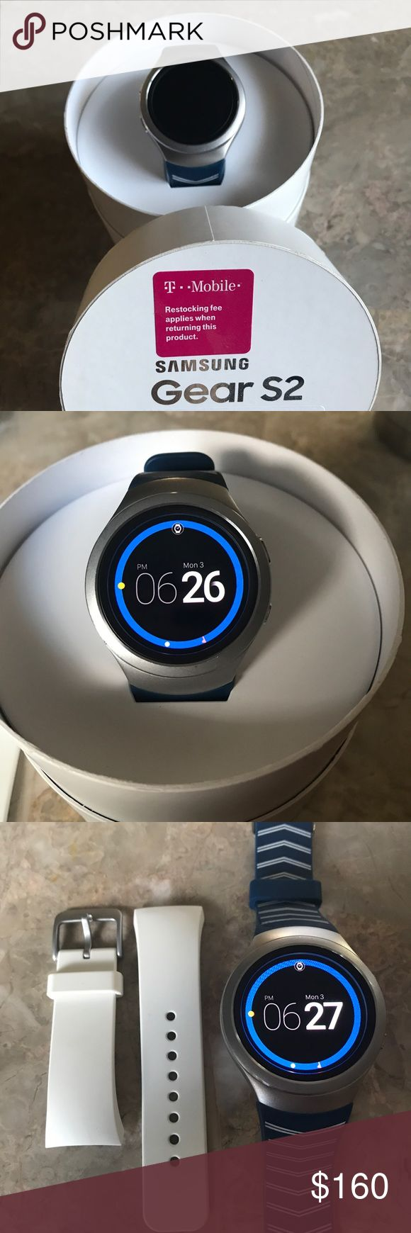 🎉SALE🎉 Samsung gear 2 smart watch!!!! 📱In great condition with additional white band . This watch is for use on T-Mobiles network or can be used with just Bluetooth on any smart phone . 📱 Accessories Watches