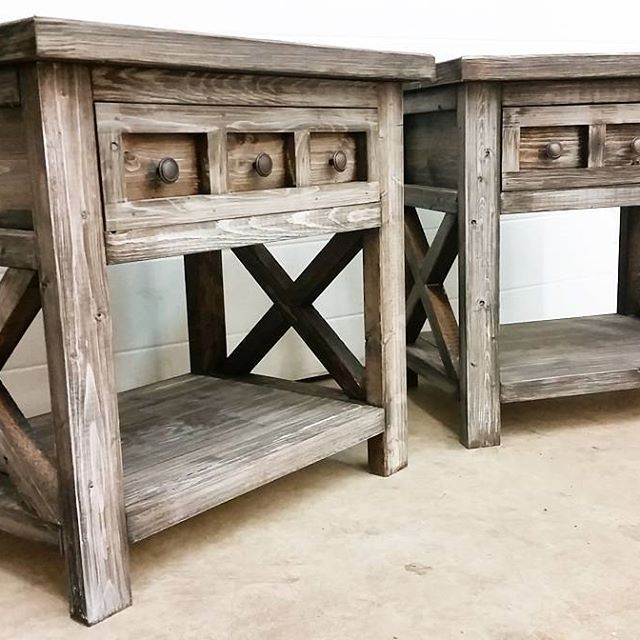 Ana white diy rustic nightstands