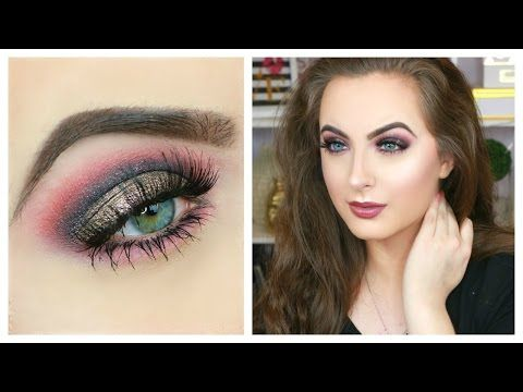Pop of Color Smokey Eye || DRUGSTORE Spring Makeup Tutorial - YouTube