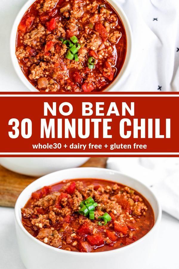 No Bean 30 Minute Chili Recipe Whole Food Recipes Whole 30