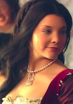 "Film portrays of Anne Boleyn: Natalie Dormer (a descendant of Jane Dormer, one of ""Bloody"" Mary's attendants) as Anne in ""The Tudors."""
