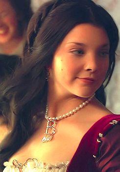 "Film portrays of Anne Boleyn: Natalie Dormer (a descendant of Jane Dormer, one of ""Bloody"" Mary's attendants) as Anne in ""The Tudors."""