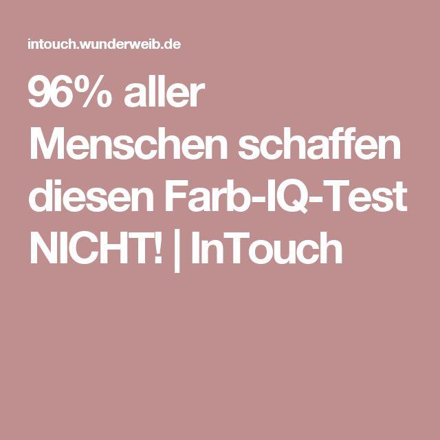 96% aller Menschen schaffen diesen Farb-IQ-Test NICHT! | InTouch