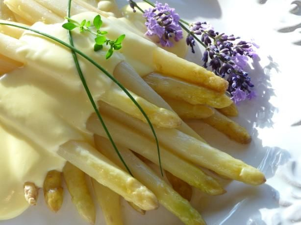 Spring in Germany means Spargel season!  Spargel is white asparagus, and you'll find most restaurants have special Spargel menus when this delicacy is in season.  Try this easy recipe for a gourmet treat at home!