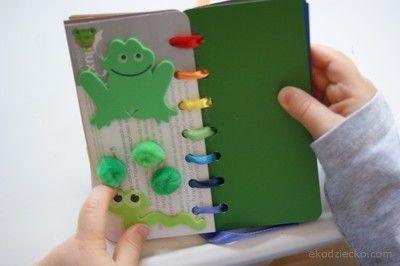 Książeczka z kolorami dla bobasów. Booklet with color for toddlers.