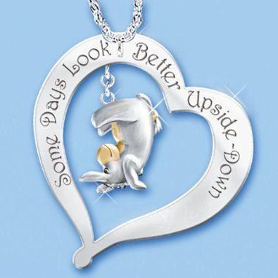 Some Days Look Better Upside Down Eeyore Pendant Necklace: Disney Winnie The Pooh Jewelry by The Bradford Exchange: Jewelry: Amazon.com