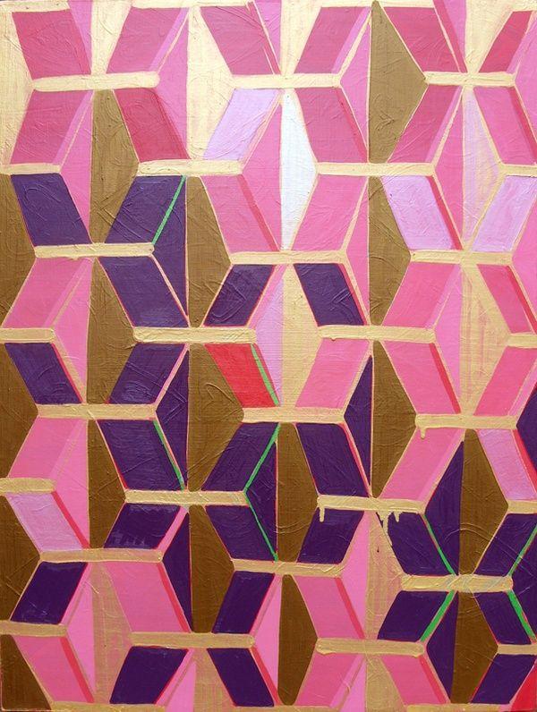 : Iphone Wallpapers, Art Patterns, Oil Paintings, Geometric Patterns, Prints Patterns, Geometric Prints, Katherine Sable, Diy Art, Gold Prints