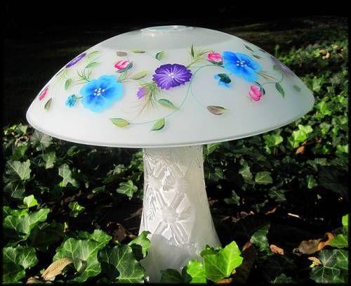 Solar Lit Garden Mushroom - HOME SWEET HOME. Tutorial.