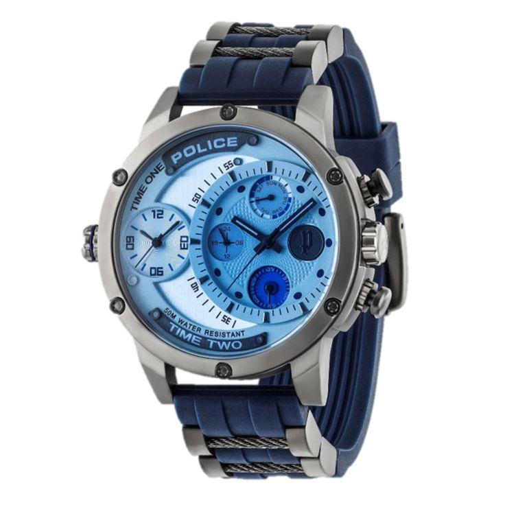 RELOJES POLICE DUAL TIME Os presentamos la nueva colección de #relojesPolice #DualTime, relojes modernos para los chicos más actuales. De gran tamaño, seguro que este reloj no pasará inadvertido.
