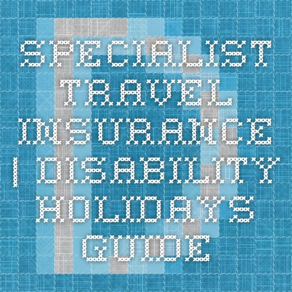 Specialist Travel Insurance