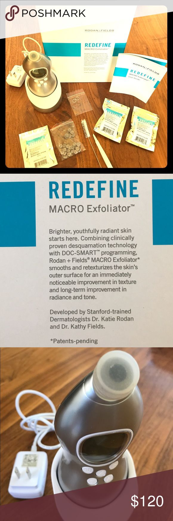 Rodan + Fields MACRO Exfoliator. Like new. Brighter, youthfully radiant skin starts here. Combining clinically proven desquamation technology with DOC-SMART programming, the Macro Exfoliator smooths and retexturizes the skin's outer surface for an immediately noticeable improvement in texture and long-term improvement in radiance and tone.  EUC Makeup Brushes & Tools