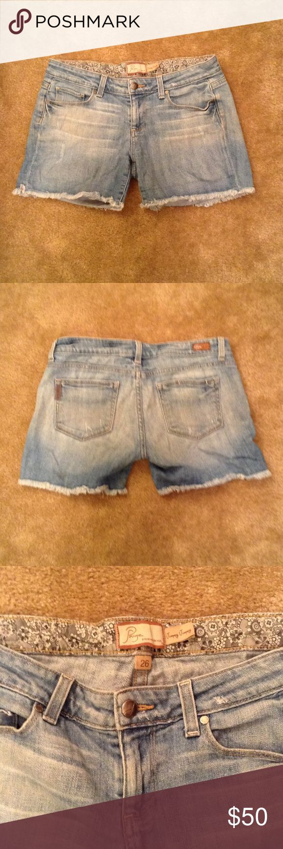 Paige Jean Shorts Paige Jimmy Jimmy Jean Shorts with frayed hem. Good condition. Paige Jeans Shorts Jean Shorts