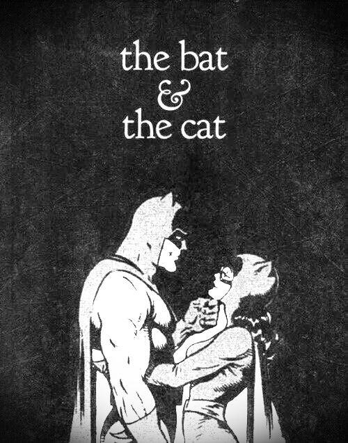 the bat & the cat, comics black & white
