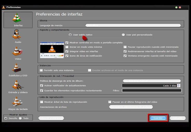 VLC Como activar el botón de grabacion
