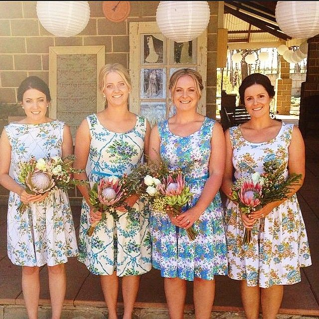 Happy Monday friends!! This happened on the weekend. Lovely Sam married her man in a vintage country wedding. Bridesmaids dresses by moi...including a beautiful French barkcloth number. This makes me so HAPPY!!! What a start to the week!! { Gertrude Made }  xx #countrystyle #vintagestyle #vintagewedding #bridesmaids #vintagelove #downonthefarm #barkcloth #blue  #weddingstyle #monday.  www.gertrudemade.com